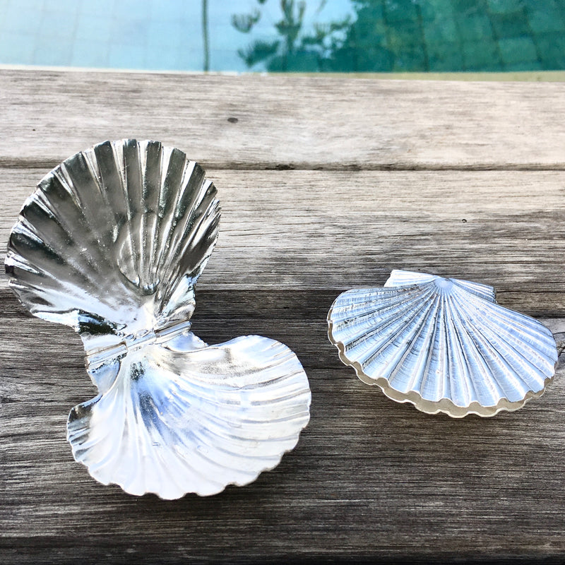 Sterling Silver Scallop Box
