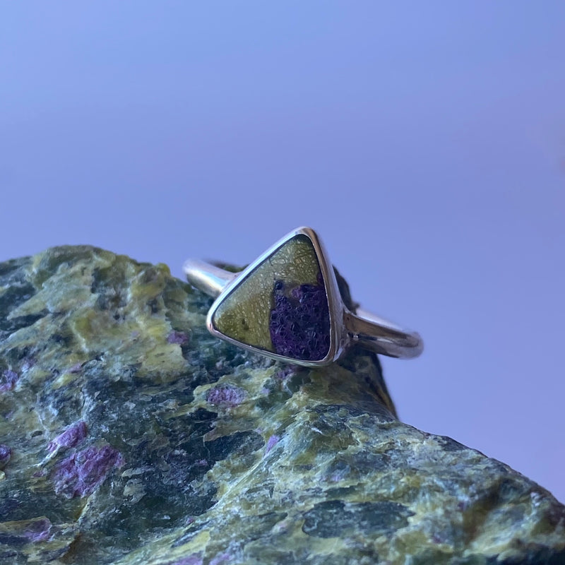 Stichtite and Serpentine ring