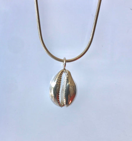 Cowrie shell pendant