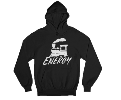 Train Energy Hoodie Black