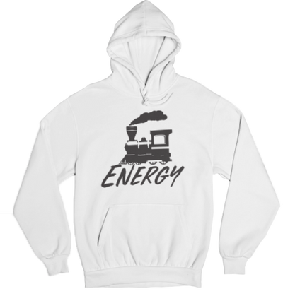 Train Energy Hoodie White