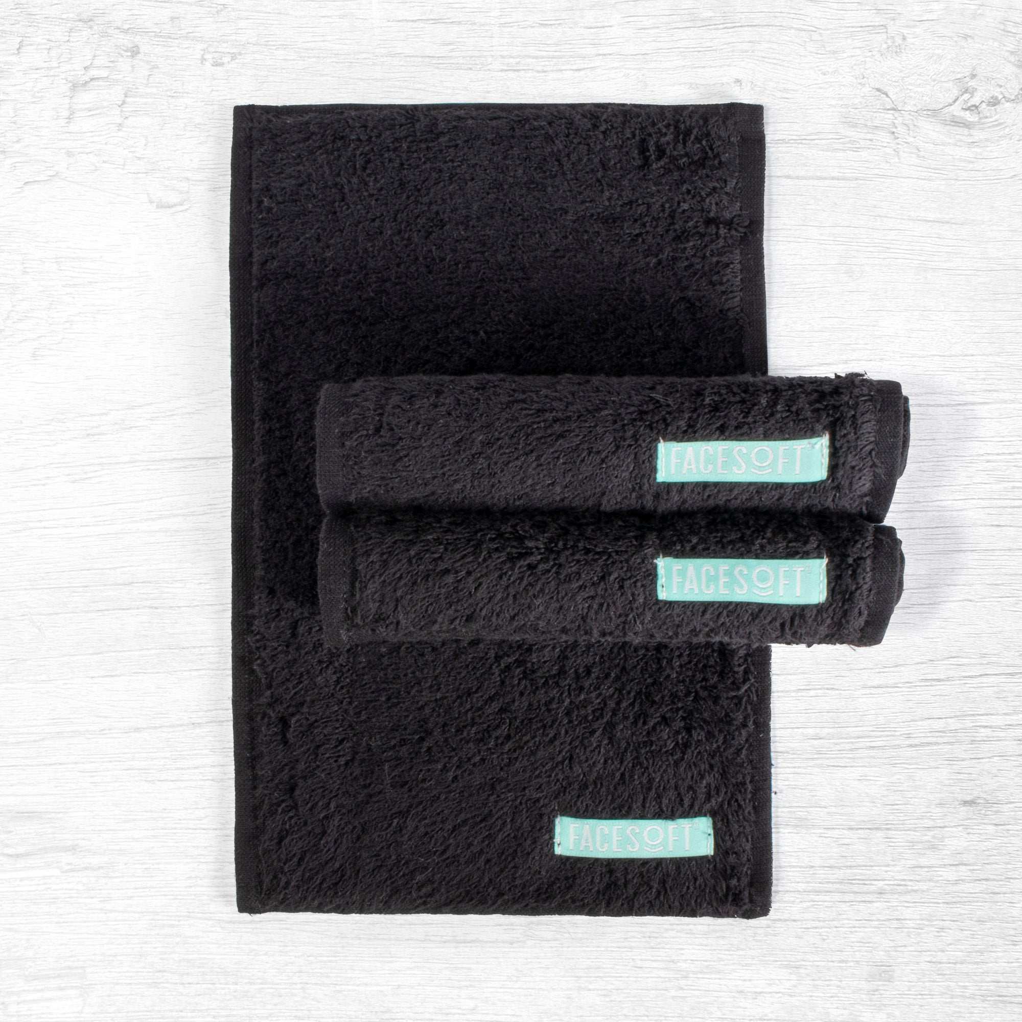 FACESOFT® BLACK NIGHT MINI TOWEL