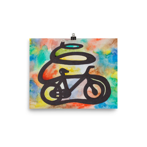 tomorrowspeople - Colorful Bicycle Art Print - Tomorrow's People - Print