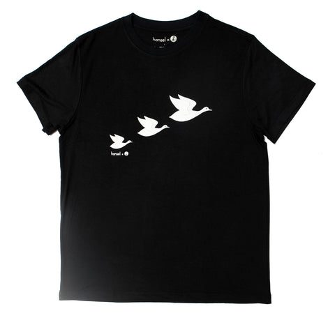 Three Flying Cranes Adult Tee