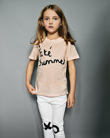 Beau LOves Short Sleeve fin T shirt, Pale Blush, Ete Summer