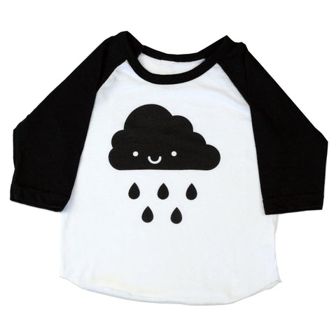 Whistle and Flute Kawaii Cloud Baseball Tee