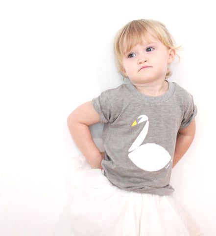 White Swan Kids Tee (Heather Grey)