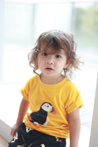 Puffin Canary Yellow Kids Tee