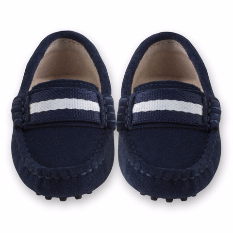Oscar's for kids Milan Navy Suede Loafers