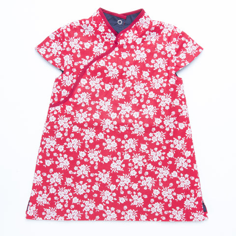 Sakura Red Reversible Cheongsam