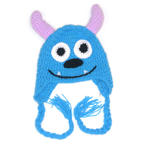 Monster Beanie - Blue