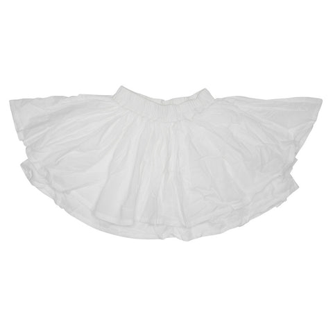 Tiered White Cotton Skirt