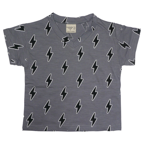 Lightning Bolt V-Neck Tee