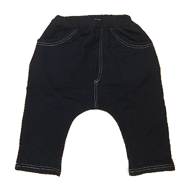 Dark denim stretchy shorts