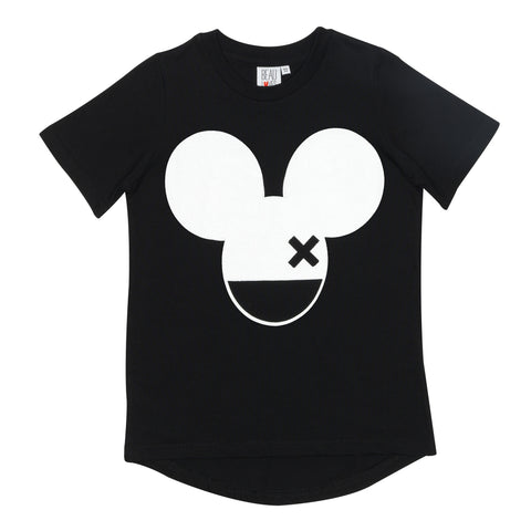 Beau LOves Short Sleeve fin T shirt, Inky Black, Mouse X
