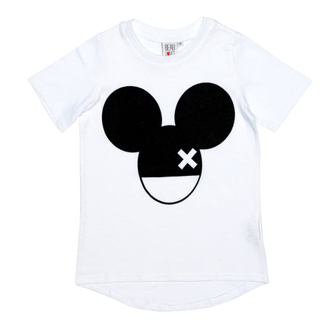 Beau LOves Short Sleeve fin T shirt, White, Mouse X