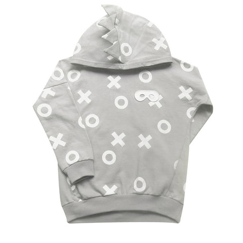 Beau LOves Grey XO Spiked Hoodie