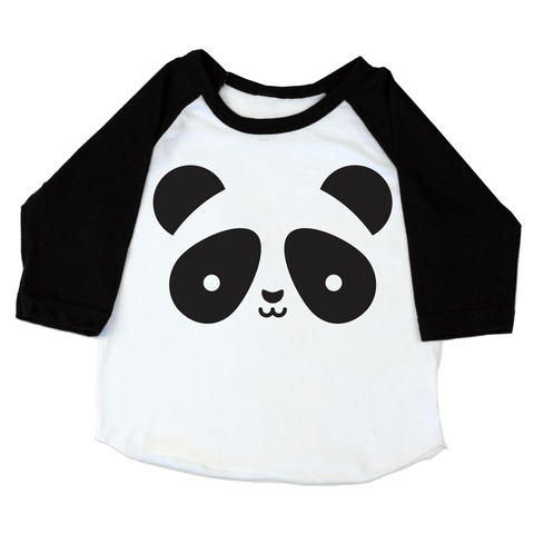 Whistle and Flute Kawaii Panda Baseball Tee
