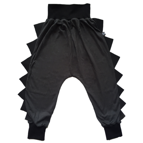 Swagasaurus Grey with Black Spikes Dino Pants
