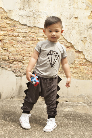 Diamond Heather Grey Kids Tee