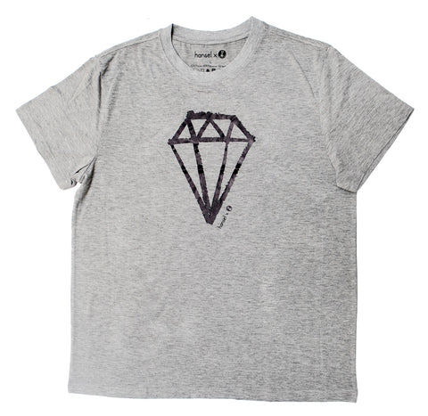 Diamond Adult Tee (heather grey)