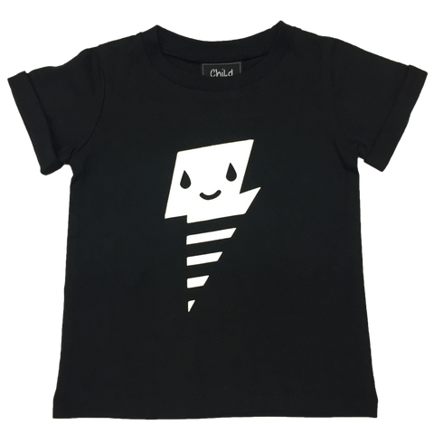 Cute Lightning Tee (Black)