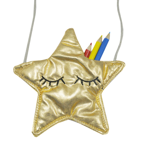 Metallic Sleepy Star Sling Bag