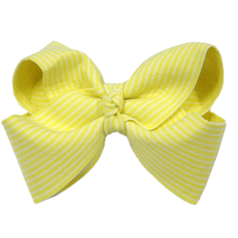 Stripe Bow Hair Clip