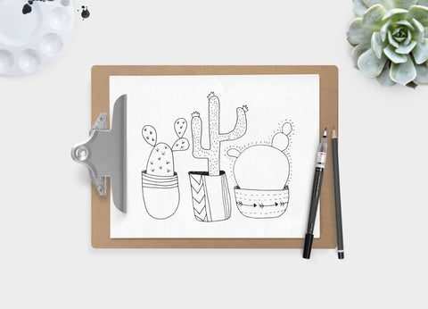 Cactus 3 Ways Print Download