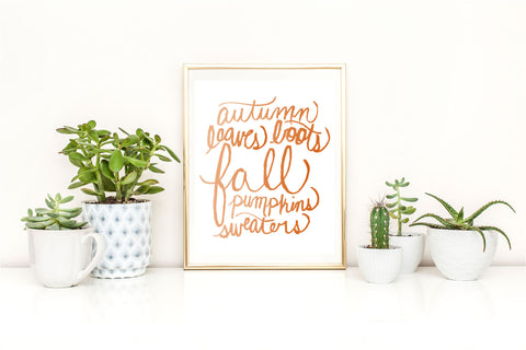 Fall Words Print - Caroline Creates