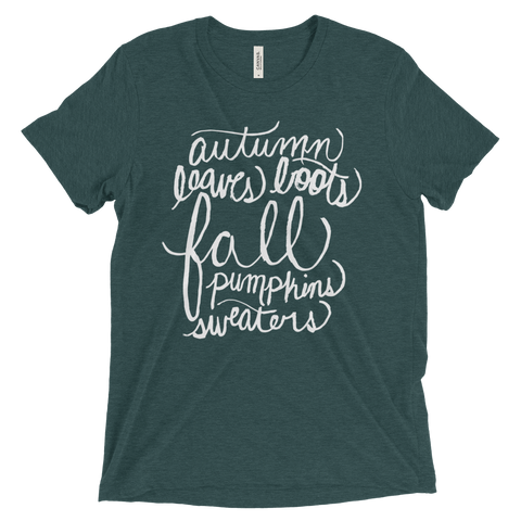 Fall Words T-Shirt - Caroline Creates