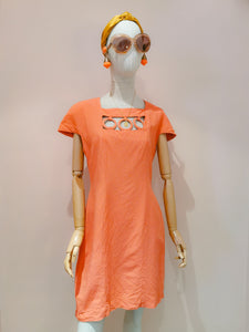 Robe orange corail