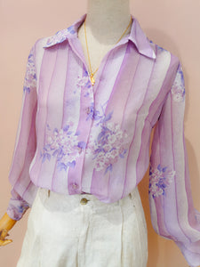 Chemise lilas