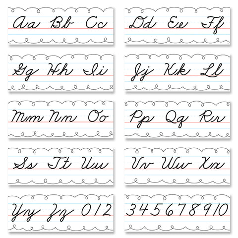 Core Decor Cursive Alphabet Line Bulletin Board