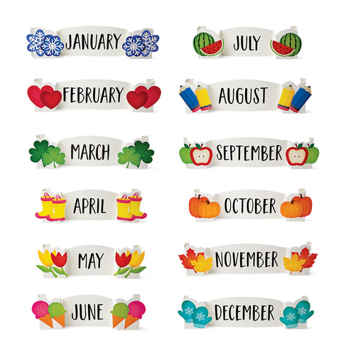 Pop It!! Months of the Year