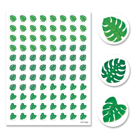 Palm Paradise Monstera Leaves Hot Spots Stickers