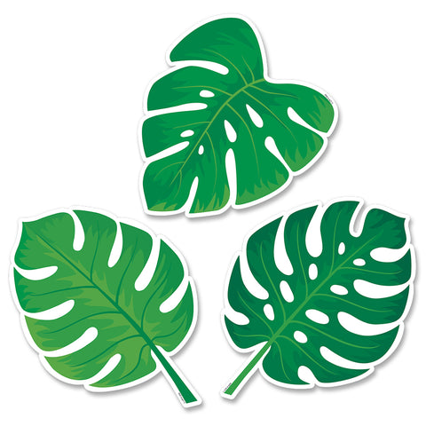 "Palm Paradise Monstera Leaves 6"" Designer Cut-Outs"