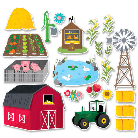 Farm Friends Farm Fun Bulletin Board Set