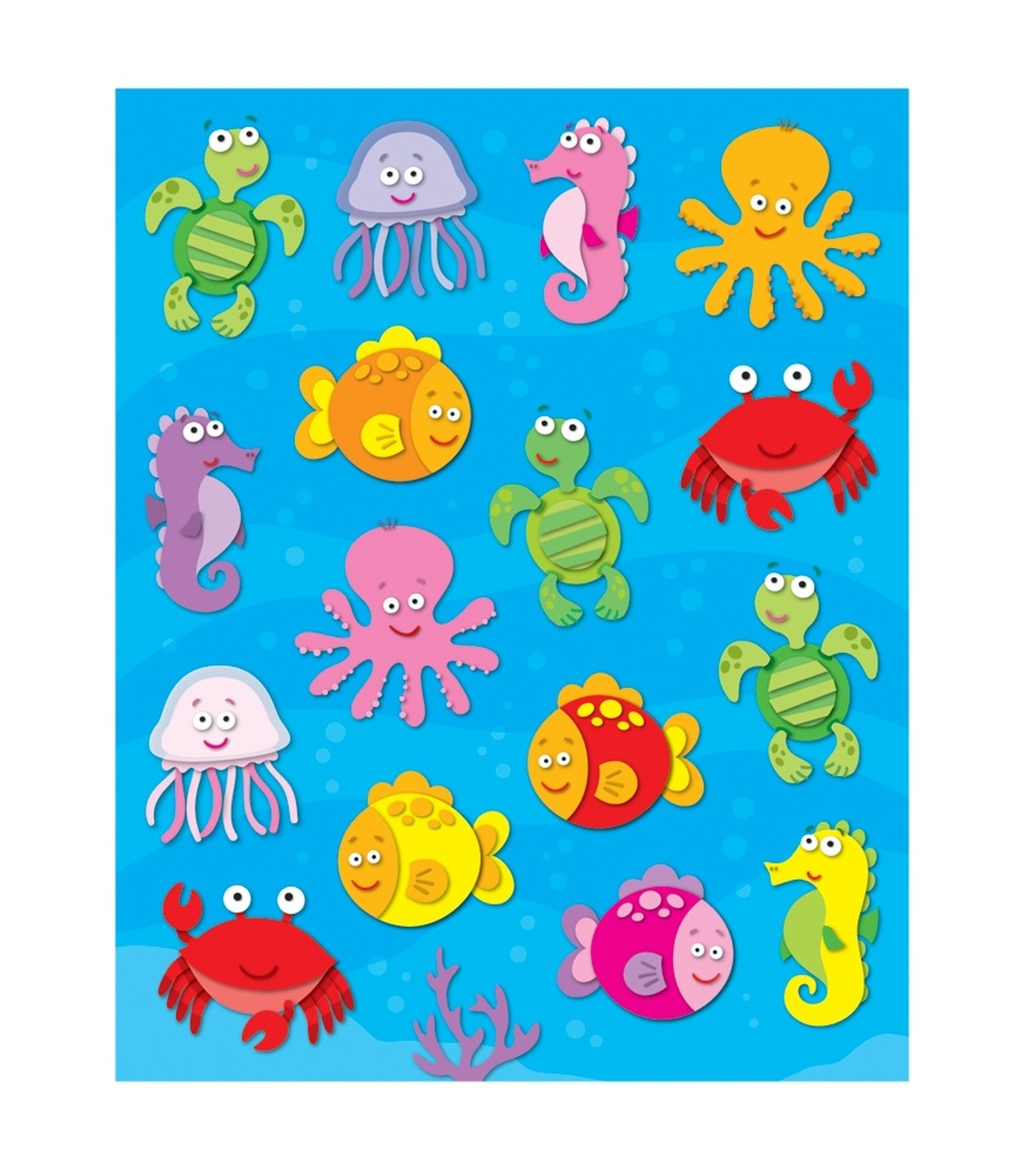 Sea Life Shape Stickers (96)
