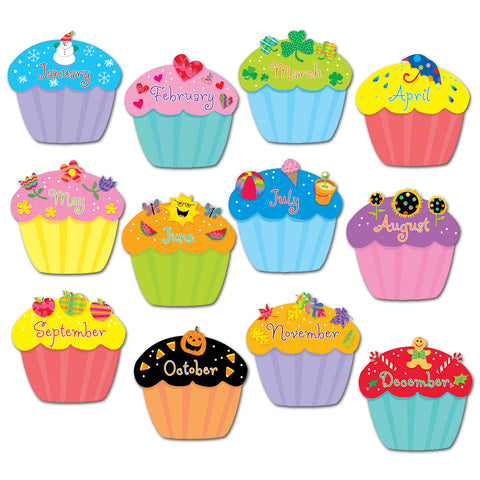 Designer Cut-Outs, Cupcakes, 6""