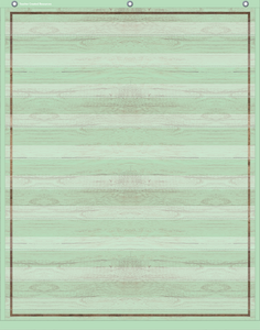 "Mint Painted Wood 10 Pocket Chart (34"" x 44"")"