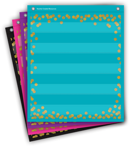 "Confetti Colorful Magnetic Mini Pocket Charts (14"" x 17"")"