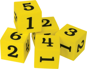 Foam Numbered Dice (1_6)