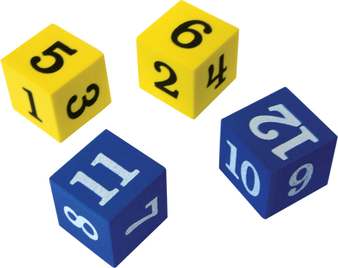 Foam Numbered Dice (1_12)