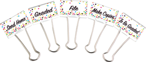 Confetti Classroom Management Large Binder Clips