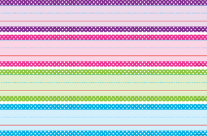 Bright Colors Polka Dots Sentence Strips