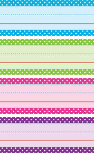 Bright Colors Polka Dots Word Strips