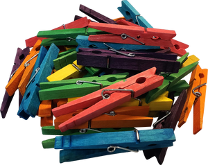 STEM Basics: Multicolor Clothespins - 50 Count