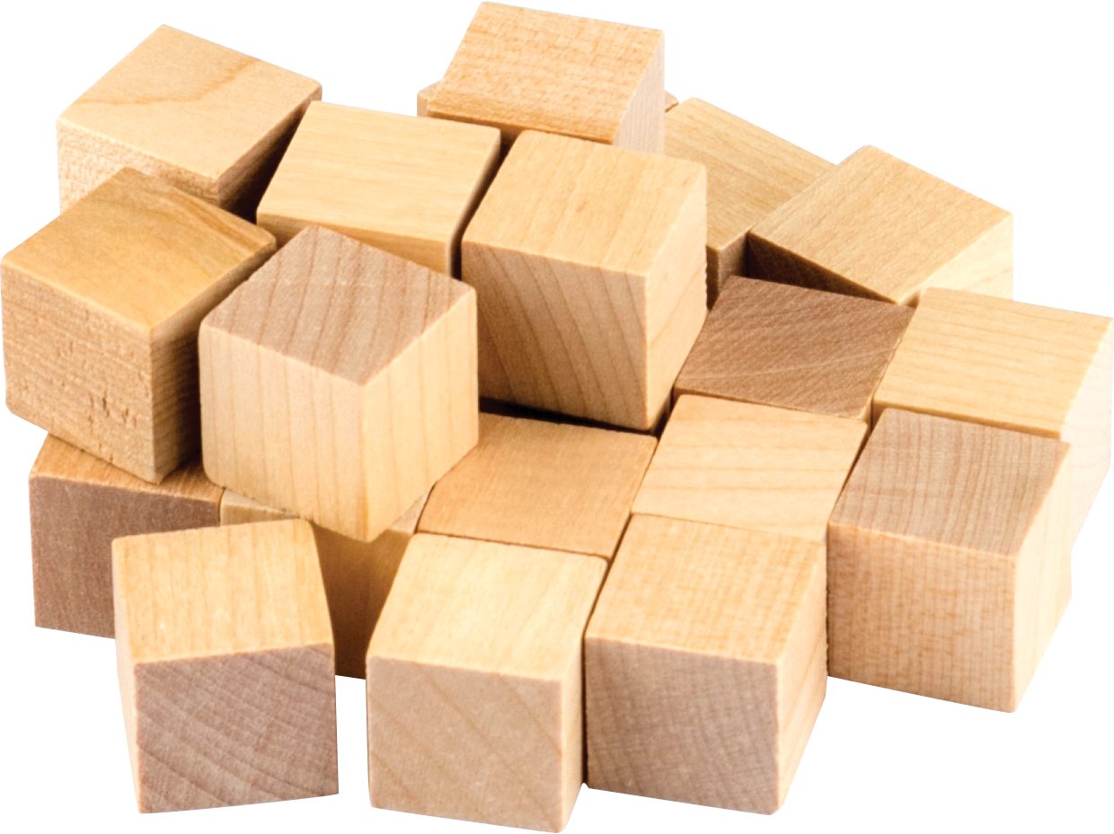 STEM Basics: Wooden Cubes - 25 Count