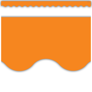 Orange Scalloped Border Trim